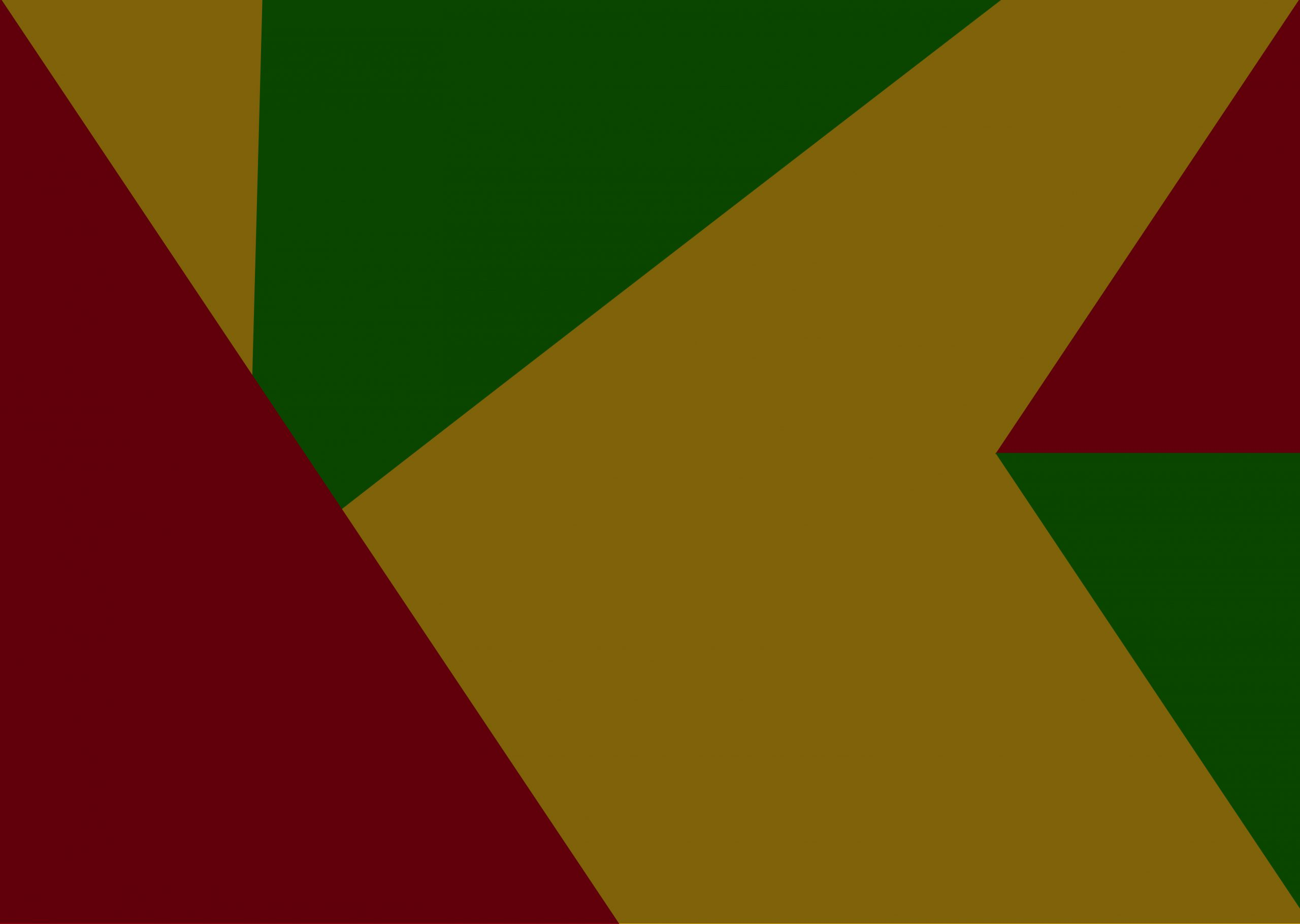 red, yellow and green geometric shape design