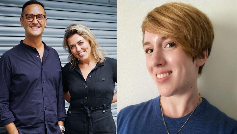 headshots of three new hires